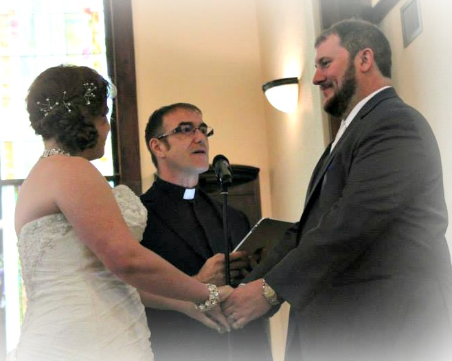 Rev. Tony with Bethany and Scott