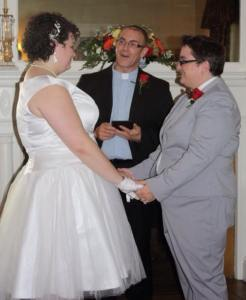 Rev. Tony officiates for Sarah and Sidney